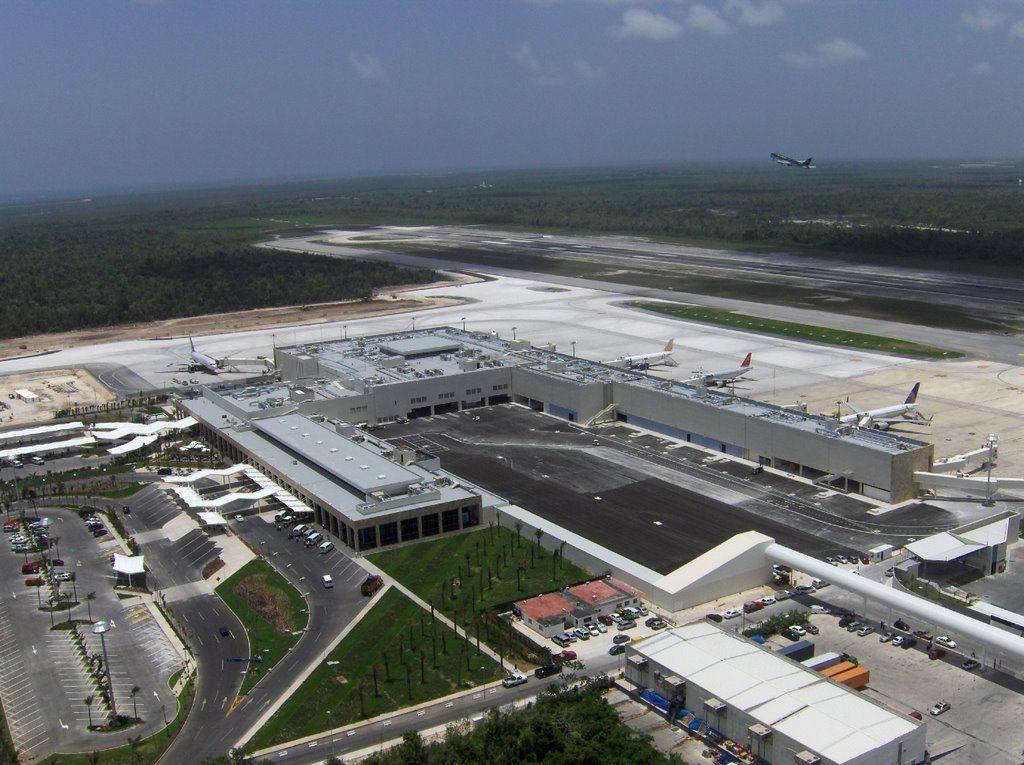 vista del aeropuerto de cancun