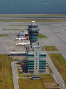 The control tower of Aeropuerto deHong Kong