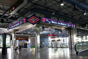Metro de Madrid en el terminal aéreo de Barajas