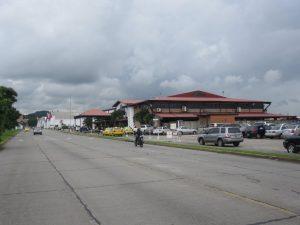 Arriving at Albrook airport terminal building