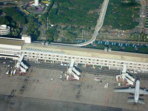 Singapore Changi Airport form Airplane