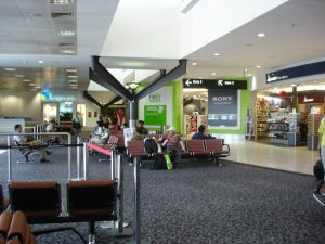 Inside melbourne airport