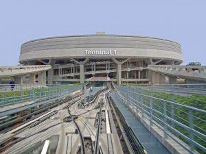 Départ pour la Russie, arrivée au terminal 1 Roissy par le CDGval
