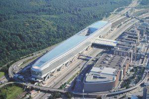 Vista aérea del terminal de Frankfurt