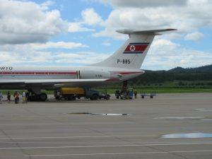 Air Koryo IL 62 at Pyongyang Airport