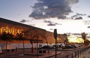 Aeropuerto de Ibiza al atardecer