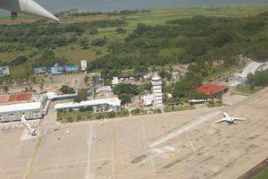 Vista aérea del Aeropuerto de Acapulco