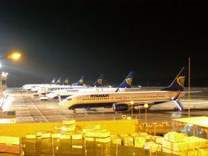 Rampa de parking de los aviones