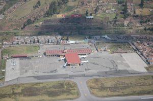 Vista aérea del Aeropuerto de Cuzco