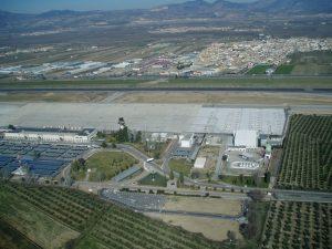Vista aérea del Aeropuerto de Granada