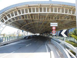 Departures area airport Cagliari-Elmas