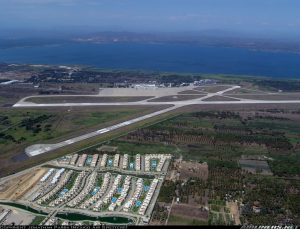 Vista aérea de Acapulco aeropuerto