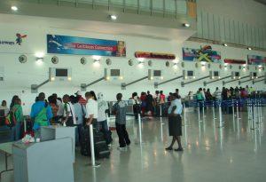 Departure hall in Norman Manley International airport