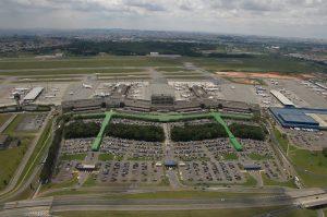 Vista aérea del aeropuerto Sao Paulo-Guarulhos