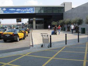 Taxis en el aeropuerto de Barcelona-El Prat