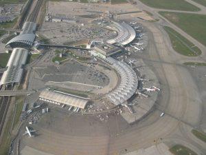 Vista aérea del Aeropuerto Lyon-Saint-Exupéry