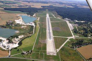vista aérea del Aeropuerto de Leipzig-Altenburg