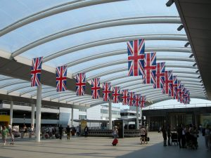 Olympic British pride at Gatwick Airport