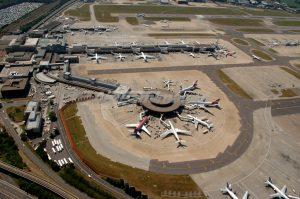 Vista aérea del Aeropuerto de Londres Gatwick