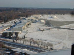 Aeropuerto-de-Lubeck-en-Invierno