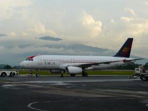Llegadas de vuelos al Aeropuerto Juan Santamaria