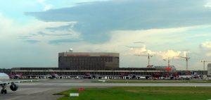 Moscow Old Terminal Sherematyevo-2 with Construction of Railway Terminal