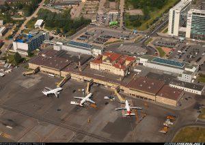 Vista aérea del Aeropuerto de San Petersburgo