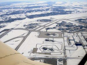 Vista aérea del Aeropuerto de Mirabel