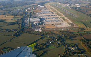 Vista aérea del Aeropuerto de Stansted