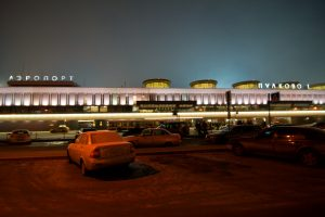 Púlkovo-San Petersburgo (LED) de noche