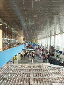 Interior of Terminal D (domesic flights) of Vnukovo airport