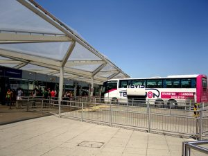 London Stansted airport. Coach station