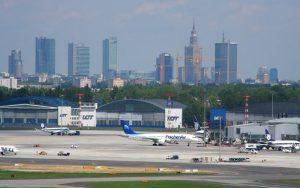 Vista aérea del Aeropuerto de Varsovia