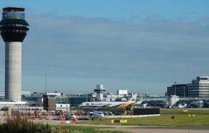 Torre de control del Aeropuerto de Mánchester