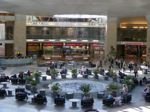 The main Holl of Ben Gurion Airport