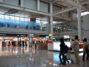 Departure lobby in Incheon Int'l Airport