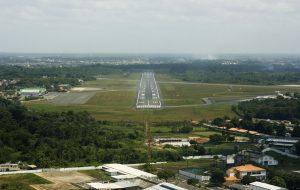 Pista de aterrizaje en el Aeropuerto de Bélem