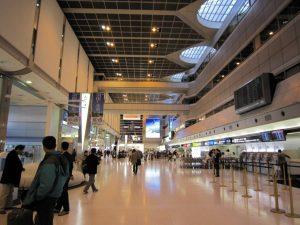 Hall de llegadas del Aeropuerto de Tokio