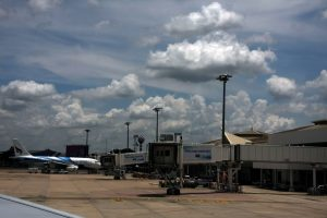 Chiang Mai International Airport from the runway.