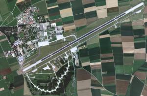 Vista aérea del Aeropuerto de Memmingen