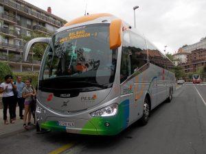 Autobuses de la empresa Pesa.