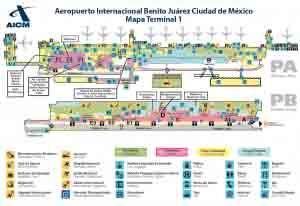 Mapa del Terminal 1