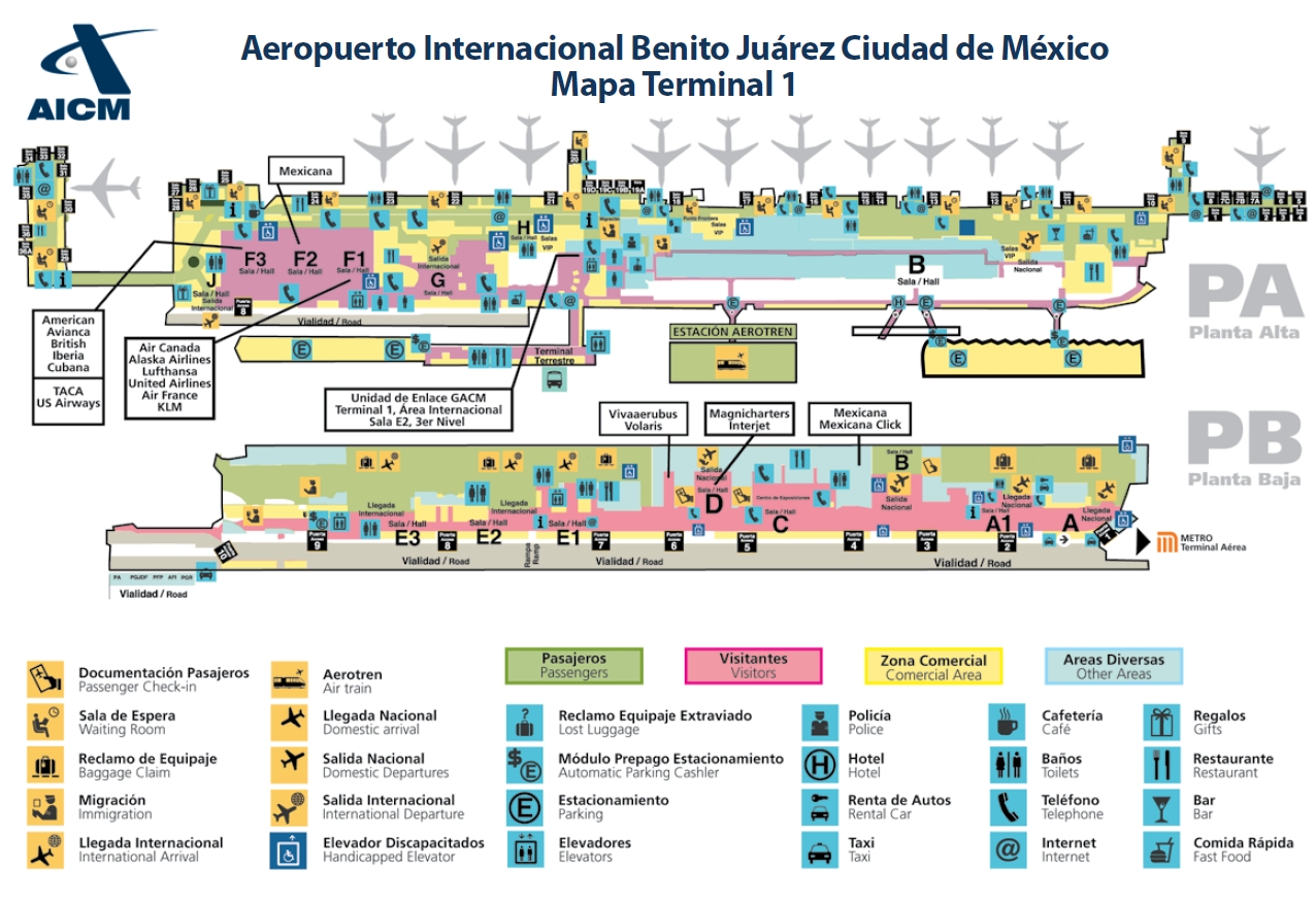 Instalaciones aeropuerto internacional de la ciudad de for Puerta 6 aeropuerto ciudad mexico