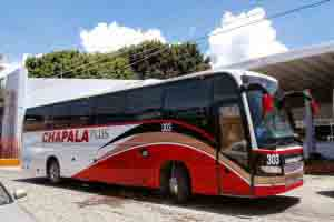 Autobuses del Autotransporte Guadalajara Chalapa.