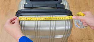 Tu equipaje debe tener 56 cm de alto, 45 cm de largo y 25 cm de ancho