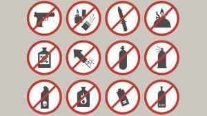 Objetos que no debes de llevar por seguridad