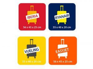 Medidas de algunas aerolíneas