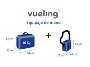 Medidas requeridas por Vueling para el equipaje de mano
